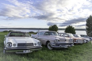 Fem vackra veteranbilar