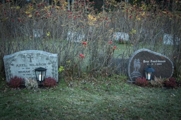 Vid nära och  käras gravar.