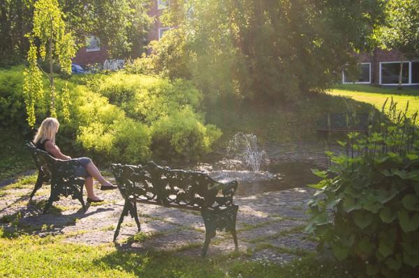 Torgbrinkens park, tidig morgon.