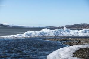 Isen smälter undan på Storsjön